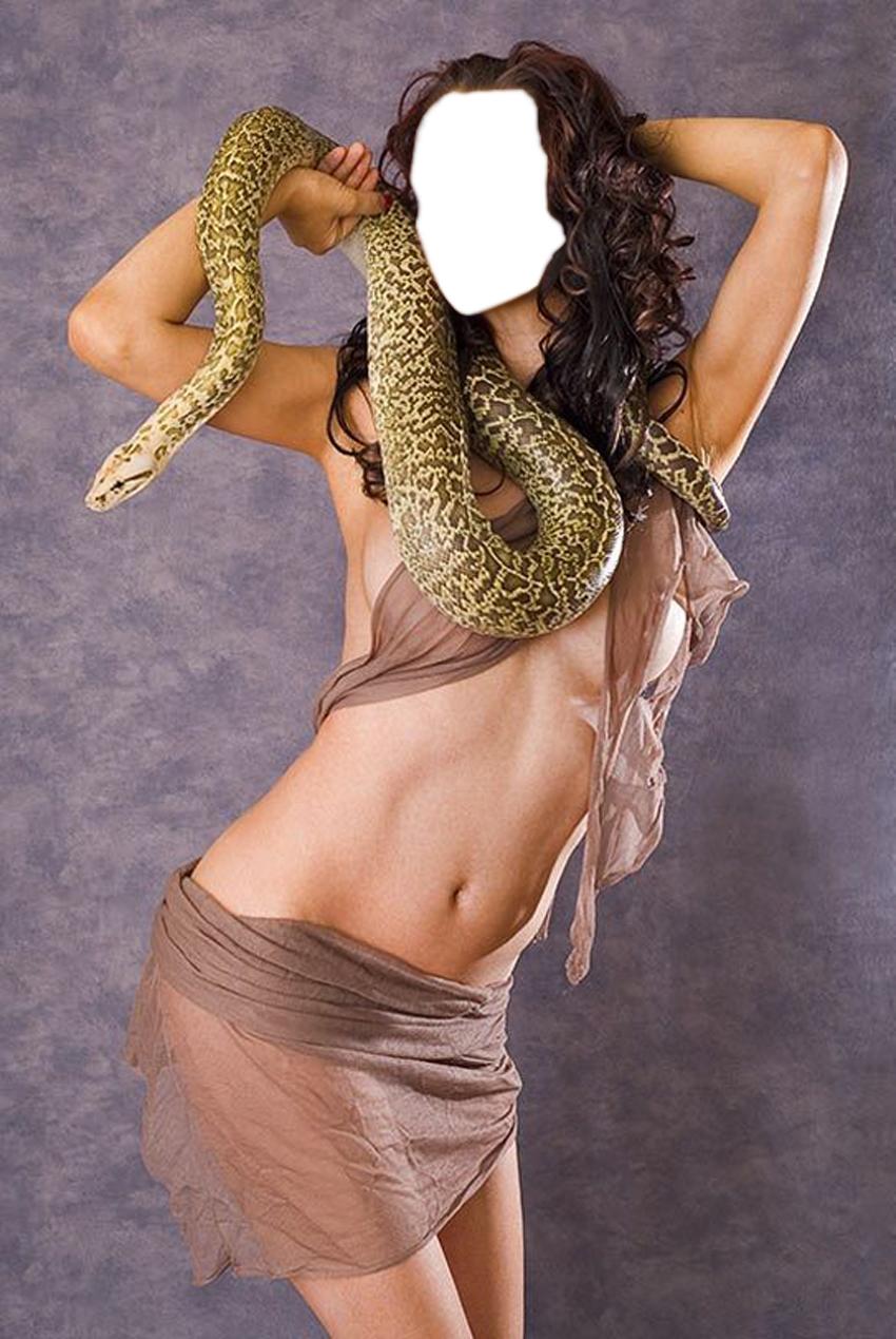 Красивые фото девушек со змеями
